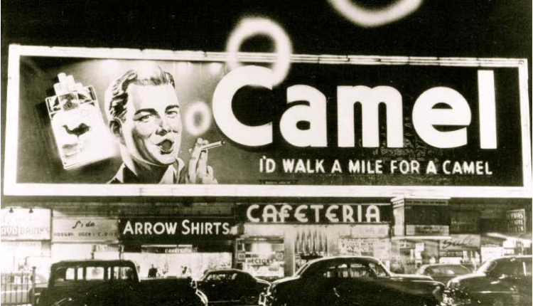camel smoking billboard