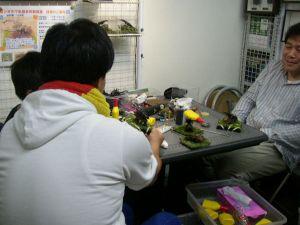 ジオラマ標本 作製教室の開始です。