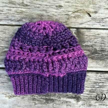 Back | Enchanted Infinity Slouch Hat | Free Pattern @OombawkaDesign