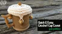 3 | Crochet Cup Cover | Free Pattern @OombawkaDesign