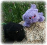 Black and Lilac | Little Oombawkas | Mini Meow CAL | OombawkaDesign