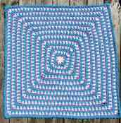 36 inch square | Zoeys Baby Blanket | Free Pattern | Oombawka Design