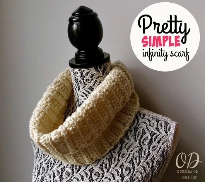 Pretty Simple Infinity Scarf Free Crochet Pattern