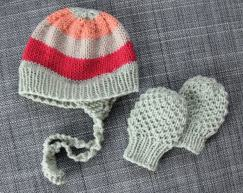 Winter Baby Hat and Mittens Set - Sweet Pickles - Book Review -