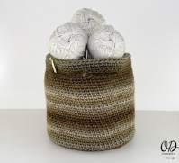 Small Crochet Project Yarn Basket - The Small Project Yarn Basket