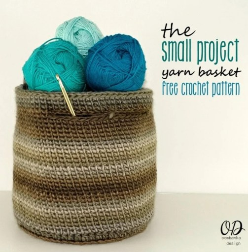 The Small Project Yarn Basket - Blues