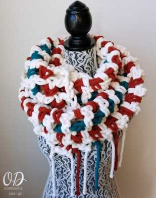 Super Sweet 2 Hour Super Scarf - Oombawka Design 2