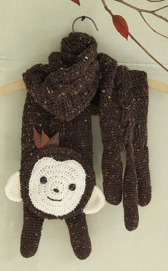 Max the Monkey - Amigurumi Animal Scarves - Leisure Arts - eBook Review by Oombawka Design