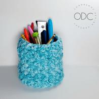 Stash Basket - Easy Stash buster Project from Oombawka Design Crochet