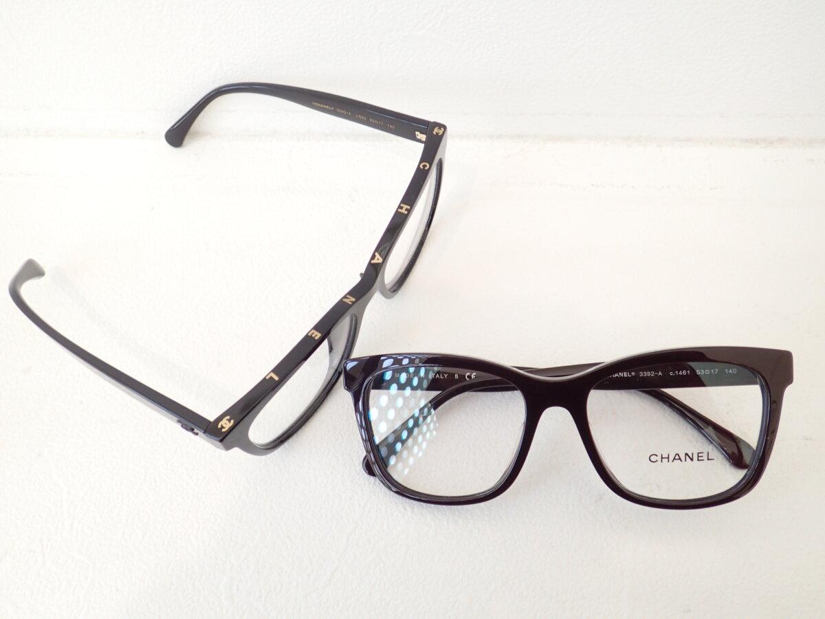 シンプルとカッコよさが融合したメガネです。|CHANEL(シャネル)「3392A」