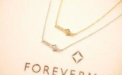 小振りなトップにフォーエバーマークダイヤが煌めくアプルーブドプチコレクションネックレス