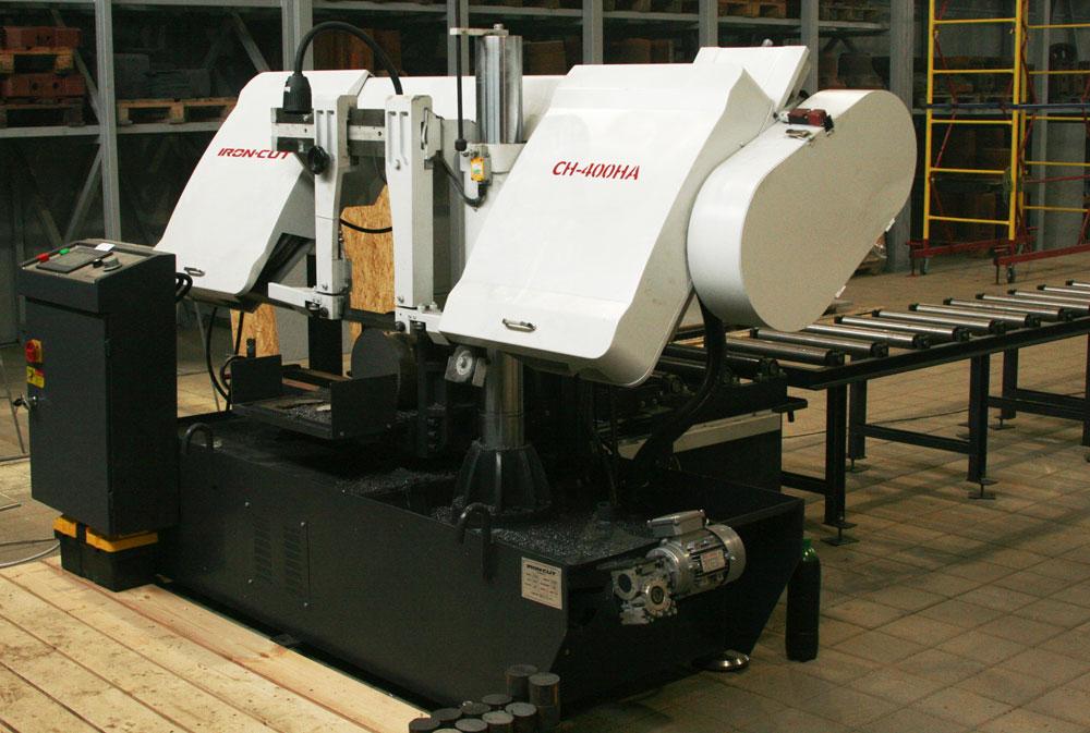 IRON-CUT-CH-400HA-Автоматический-колонный-ленточнопильный-станок