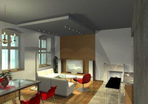 Architekt Pabianice OOO studio Architektura i Design portfolio projekt wnetrza mieszkanie 3