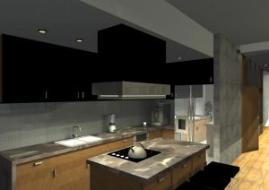 Architekt Pabianice OOO studio Architektura i Design portfolio projekt wnetrza mieszkanie 9