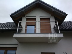 Architekt Pabianice OOO studio Architektura i Design Balustrada balkonowa stal nierdzewna profil kwadratowy 1