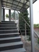 Architekt Pabianice OOO studio Architektura i Design Balustrada zewnetrzna stal nierdzewna wypelnienie szklane 2