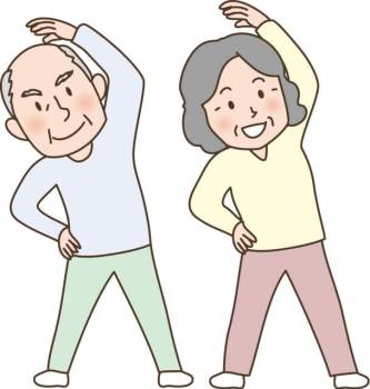 高齢者のラジオ体操