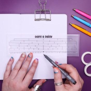 bullet journal grid guide ruler no spaces