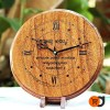 Customized Laser Engraved Wooden Clock