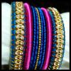 Diamond Silk Thread Bangle Set
