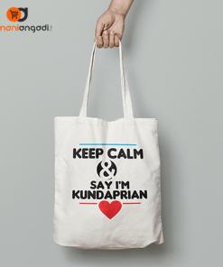 Keep Clam & Say I'm Kundaprian Tote Bag