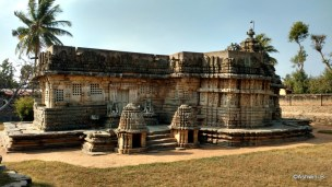 View from behind the temple