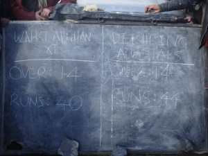 The final scoreboard. Victory for the Ditchling All Stars in a thrilling match.