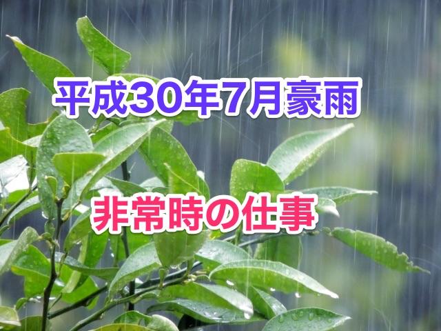 平成30年7月豪雨と非常時の仕事