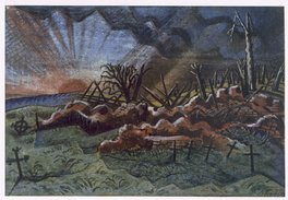 Sunrise, ruins of a hospice by Paul Nash