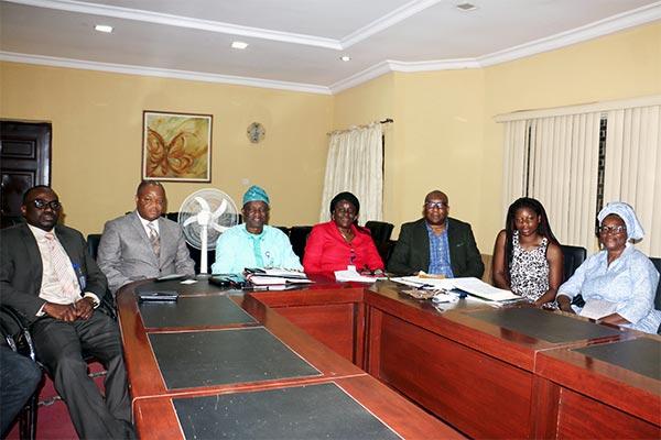 The V.C. Prof. G.O. Olatunde, other Principal Officers, UK Alumni President