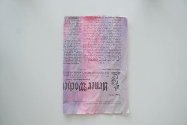 Upcycling Idee aus Zeitungspapier
