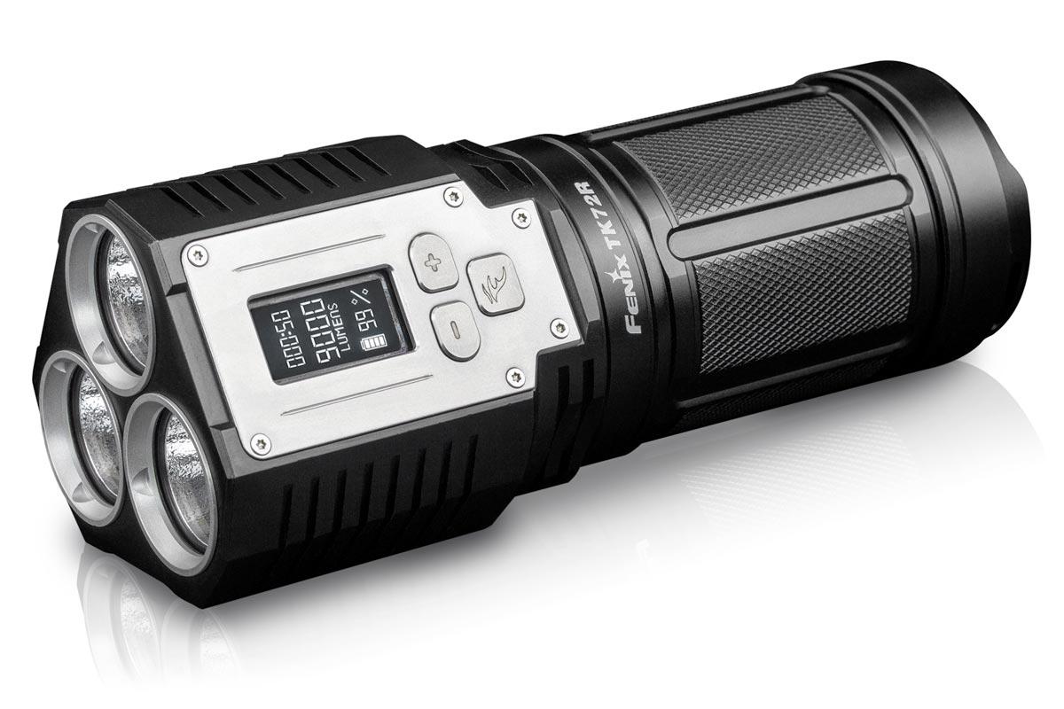 fenix tk72r rechargeable flashlight 9000 lumens