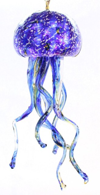 Cobalt Jelly Fish Chandelier
