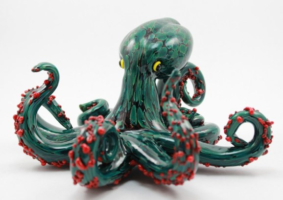 Silvergreen/Gold Octopus