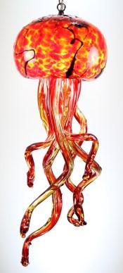 Red Hot Jellyfish Chandelier