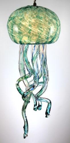 SGreen Jellyfish Chandelier