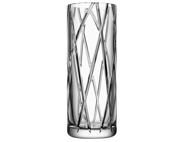 κρυστάλινο βάζο της orrefors σχέδιο stripe