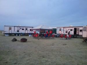 foto van het kamp