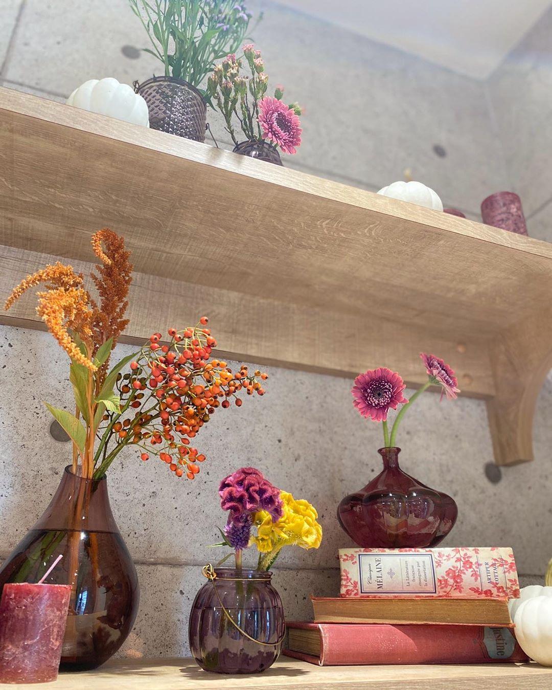 2020年9月のお花 店内はハロウィン仕様になっています(2020.09.24)
