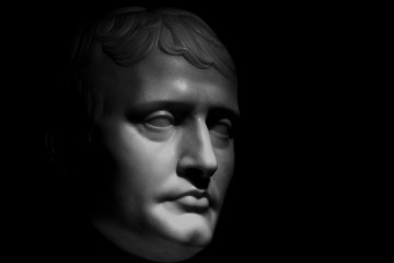 Sculpture du visage de napoléon bonaparte