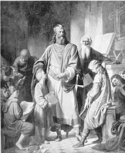 """Portrait de Charlemagne pour le décryptage """"Faire l'école buissonnière"""""""