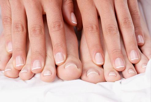 Unhas dos pés e mãos