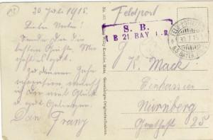 Feldpostkarte Erster Weltkrieg Vigneulles
