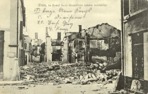 Feldpostkarte Erster Weltkrieg Etain