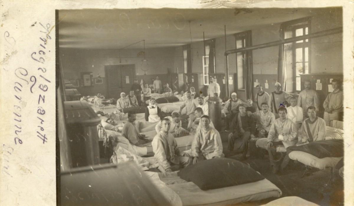 12.11.1915: Mein Bett im Lazarett