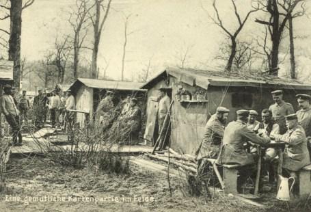 Feldpostkarte Erster Weltkrieg Kartenpartie