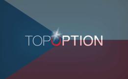 logo topoption s českou vlajkou