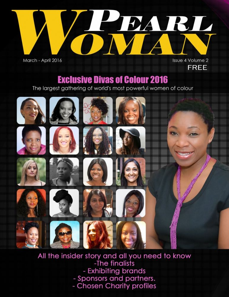 Claire Clottey joins award finalists on the cover of Pearl Woman Mag