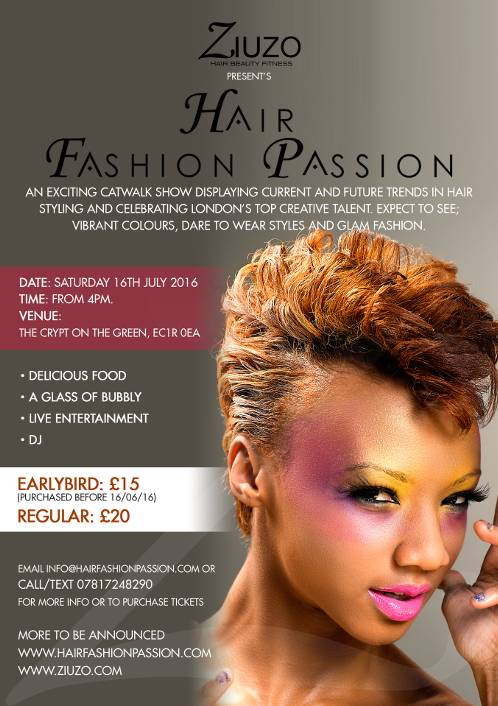 EVENT: Ziuzo presents…Hair, Fashion, Passion Hosted by Sky TV's Gayle Ngozi