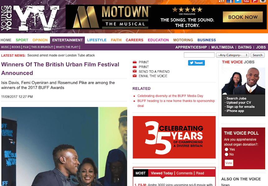 @thevoicenews features the @buffawards winners